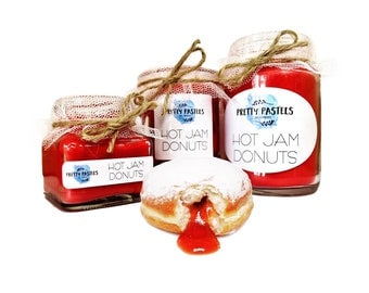 Hot Jam Donuts Scented Soy Candle
