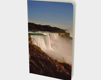 "Journal (Sm): Classic landscape painting ""Majestic Niagara Falls"" Notebook, Sketchbook. Plain, ruled, grid, or bullet pages. 5""x8.25"""
