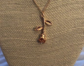 Gorgeous Rose Gold Charm Necklace