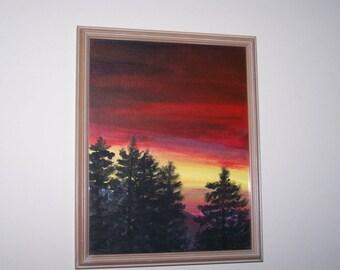 North Mountain Sunset skyline