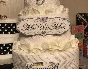 Wedding, towel, cake, gift, shower,