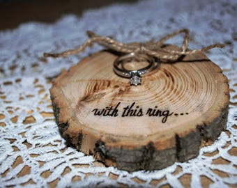 Rustic Wedding Ring Pillow