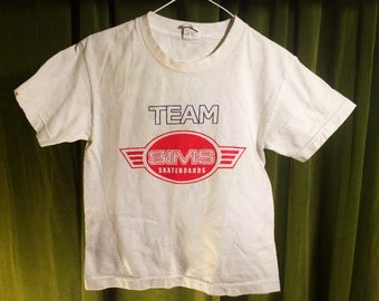 1980's Vintage SIMS Skateboards Team Shirt