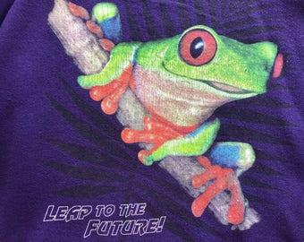 90s leap to the future, leap frog, sweatshirt -medium-