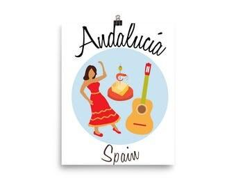 Andalucia Poster, Spain Poster, Spain Print, Flamenco
