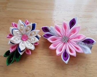 Kanzashi flower hair clip