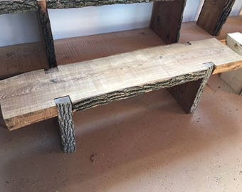 Rough Cut Wood Benches