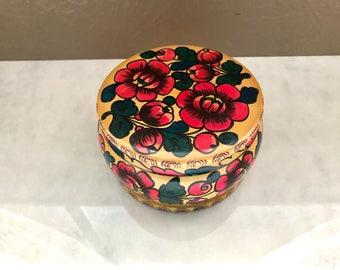 Hand painted trinket box