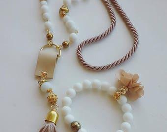 Milky Way Jewelry Set: A Bracelet and A Necklace.