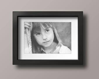 Custom Portrait, Drawing from photo, Digital drawing, Pencil art, Custom pencil art, Pencil portrait