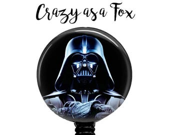 Star Wars Darth Vader Retractable Badge Holder, Badge Reel, Lanyard, Stethoscope ID Tag, Teacher, Nurse md rn cna Gift