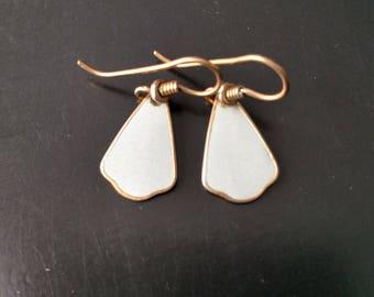 Vintage Laurel Burch Gray Dangle Earrings