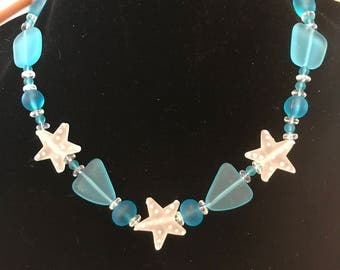 Dot me a Starfish - Necklace Earrings
