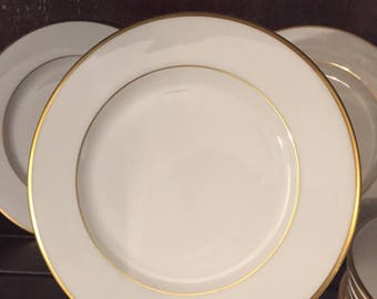 "Vintage Fitz and Floyd Infinity Gold 6 3/4"" Plates, set of 12"