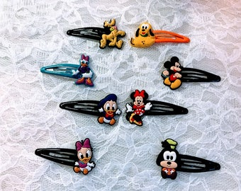 4 Pair  Hair Clip Minnie Mickey Mouse And Friend, Accessories.