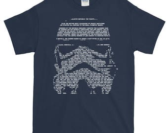 Cool Star Wars Shirt | Custom Star Wars T-Shirt With Opening Crawl Text | Star Wars Gift Ideas