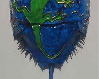 Lizard painted horseshoe crab