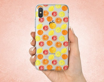 Fruits case Iphone 8 Fruits Iphone X case Fruits Google Pixel 2 XL case Fruits Samsung cover Gifts Citrus cover Fruits Iphone 7 case