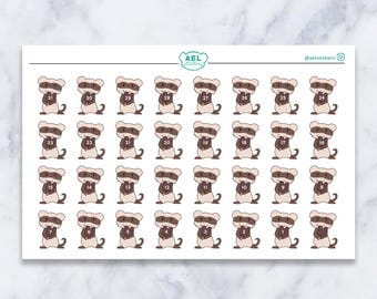 Disney Ferret Countdown Planner Stickers