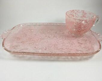 Pink Vintage looking Luncheon Set