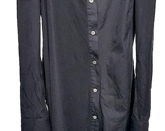 yohji yamamoto. JAPAN. Mixed Material Asymmetrical Top/Light Jacket