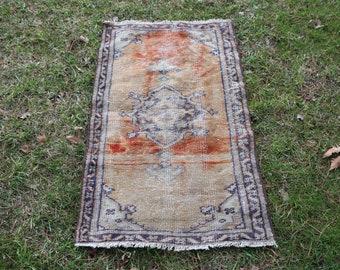 Faded color small size decorative rug Free Shipping 2.3 x 4 ft. boho decorative rug doormat rug frontdoor rug turkish rug nomadic rug MB404