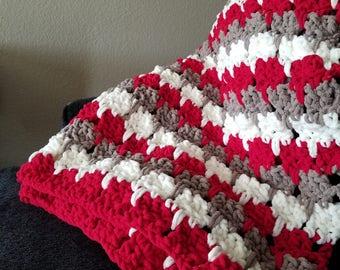 Hand crochet blanket