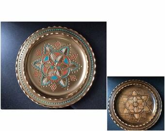 Restored wooden plate