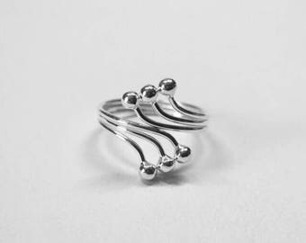 Soundless, 925 silver, open ring