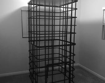 Large cage with door.
