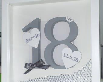 Birthday personalised frame