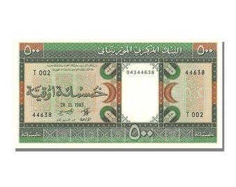 mauritania 500 ouguiya 1985 km #6c 1985-11-28 unc(65-70) t 002