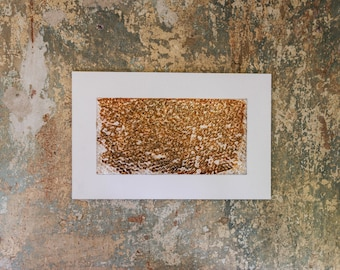 Original graphic/painting iron oxide on foil 660 x 420 mm, no pressure