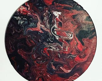 Abstract Black/Red/White Painting #2