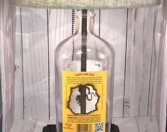 Fire Whiskey Bottle Lamp