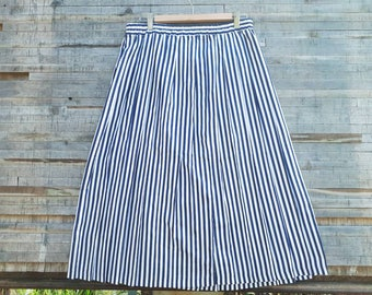 Skirt vintage long stripes.