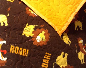 Lion Roar Lap Quilt