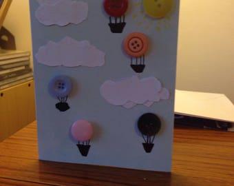 Button Balloon Birthday Card