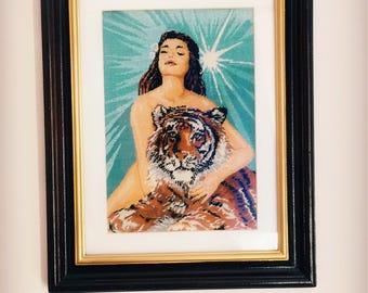 "Handmade gobelin ""Tigress"""