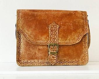 Handmade leather craft messenger bag-29cmx22cmx7cm