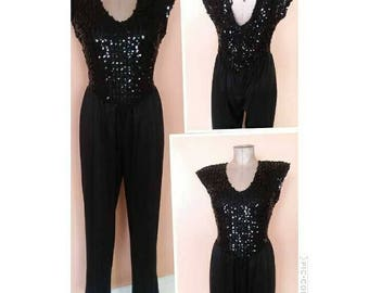 Vintage black jumpsuit 5/6
