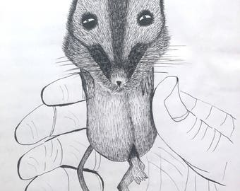 Cute  mouse (9by11inches )