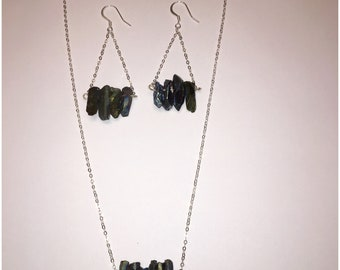 Blue Hematite .925 Sterling Silver Necklace