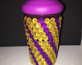 Puprle and Gold swriled Sippy Cup