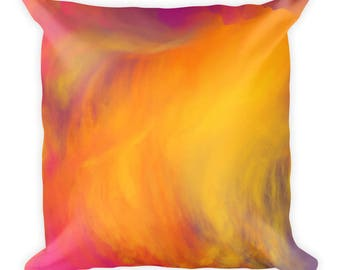 Colorful Square Pillow, cover w/stuffing, USA, printful