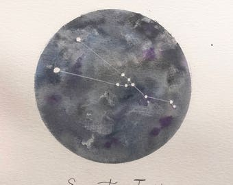 Custom Watercolor Constellations - Zodiac Sign