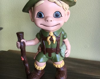 Atlantic Mold Vintage Boy Scout Figurine rare