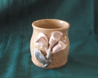Pot Decorated with Calla Lilies