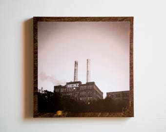 HEINZ Factory / Wood Canvas / Photography / WALL ART