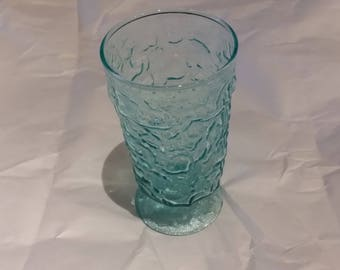 Anchor Hocking Milano Aqua 6 oz Footed Juice Glass